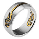 RING mit goldfarbenen Tribal